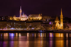 Matthias Church and Fisherman Bastion in Budapest Hungary Stock Image