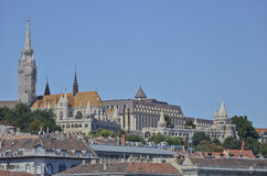 Matthias Church and the Fisherman's Bastion, Budapest. 6 Royalty Free Stock Image