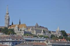Matthias Church and the Fisherman's Bastion, Budapest. 6 Royalty Free Stock Image