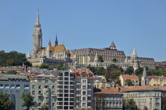 Matthias Church and the Fisherman's Bastion, Budapest. 4 Royalty Free Stock Images