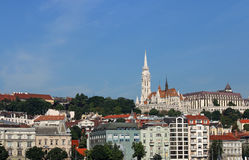 Matthias church and Fisherman towers Budapest cityscape Royalty Free Stock Photography