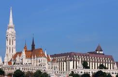 Matthias church and Fishermans tower Budapest city. Hungary Stock Photo