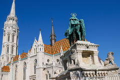 The Matthias Church, the Fishermen's Bastion. Budapest, Hungary. Royalty Free Stock Images