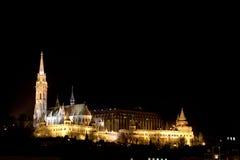 Matthias Church and the Fishermen's Bastiona, Budapest, Hungary Stock Images