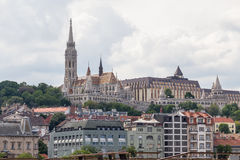 Matthias Church and the Fishermens Bastion Stock Photos