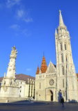 Matthias Church Holy Trinity column Budapest Stock Images