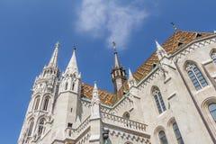 Matthias Church i den Budapest Ungern Arkivfoto