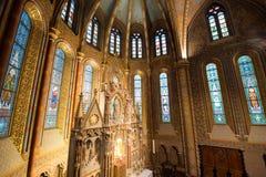Matthias Church Interior - Budapest, Ungern Royaltyfri Fotografi