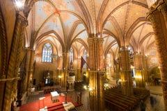 Matthias Church Interior - Budapest, Ungern Royaltyfria Foton