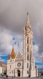 Matthias Church ist eine Römisch-katholische Kirche, die in Budapest, Ungarn gelegen ist Lizenzfreie Stockfotos