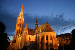 Matthias Church at night Royalty Free Stock Photography