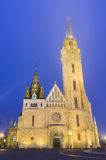 Matthias Church At Night in Buda Castle Stock Images