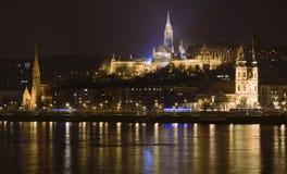 Matthias church at night. Budapest Matthias church at Castle district - at night Stock Photo