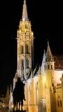 Matthias Church. Night scene of Matthias Church in Budapest Stock Images