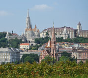 Matthias church and other buildings Royalty Free Stock Photography