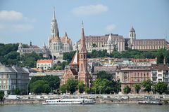 Matthias church and other buildings Royalty Free Stock Photos