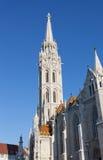 Matthias Church på Buda Castle i Budapest Royaltyfria Foton