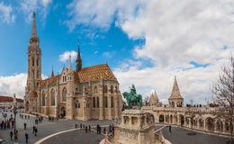 Matthias Church is a Roman Catholic church located in Budapest, Hungary. BUDAPEST, HUNGARY - FEBRUARY 20, 2016: Matthias Church is a Roman Catholic church Stock Photos
