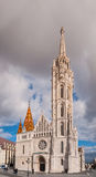 Matthias Church is a Roman Catholic church located in Budapest, Hungary. In front of the Fisherman's Bastion at the heart of Buda's Castle District Royalty Free Stock Photos