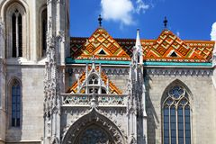 Matthias Church - Church of Our Lady, Budapest. Architectural detail. Stock Image