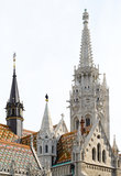 Matthias Church roof detail Royalty Free Stock Image