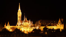 Matthias church and Saint Istvan statue - Budapest Stock Images