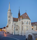 Matthias Church seen from  Fisherman's Bastion before sunset Royalty Free Stock Images