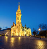 Matthias church and Statue of Holy Trinity in Budapest, Hungary Royalty Free Stock Image