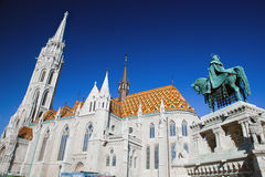 Matthias Church and statue of Stephen I. Budapest, Hungary Royalty Free Stock Photography