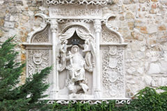 Matthias Church tower. Statue on wall Stock Photography