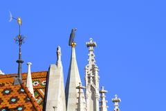 Matthias Church turrets Budapest Royalty Free Stock Images