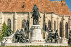 Matthias Corvinus Monument Stock Images
