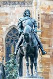 The Matthias Corvinus Monument by Janos Fadrusz in Cluj-Napoca, Romania.  royalty free stock images