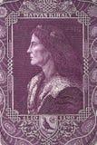 Matthias Corvinus un ritratto Immagini Stock