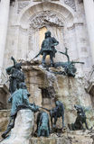 The Matthias Fountain in Buda Castle stock photo