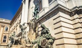 Matthias Fountain in Buda Castle, Budapest, Ungheria immagine stock libera da diritti