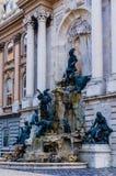 Matthias Fountain in Buda Castle stock photos