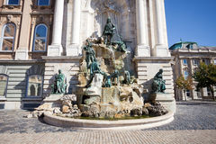 Matthias Fountain in the Buda Castle Royal Palace Stock Photography