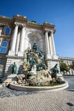 Matthias Fountain in the Buda Castle Royal Palace Stock Images