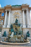 Matthias Fountain At the Castle Budapest Stock Images