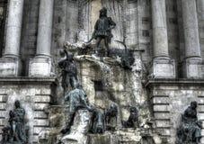 Matthias Fountain em Buda Castle Fotos de Stock Royalty Free