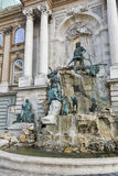 Matthias Fountain in northwest courtyard of Royal Palace. Budapest, Hungary. Royalty Free Stock Photo