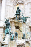 Matthias Fountain in the  Royal Palace, Budapest, Hungary. Royalty Free Stock Photos