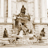 Matthias Fountain in the  Royal Palace, Budapest, Hungary. Royalty Free Stock Images