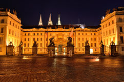 The Matthias gate architecture in Prague city by night Royalty Free Stock Photography