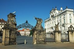 Matthias gate of Castle in Hradcany, Prague Royalty Free Stock Photo