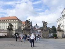 Matthias Gate at the Castle of Prague Stock Photo