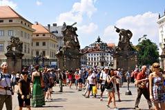 Matthias Gate på den Hradcany fyrkanten, Prague Royaltyfri Fotografi