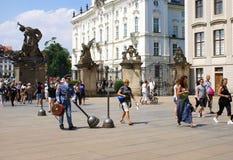 Matthias Gate på den Hradcany fyrkanten, Prague Royaltyfria Foton