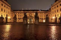 The Matthias gate of the Prague castle Stock Photo